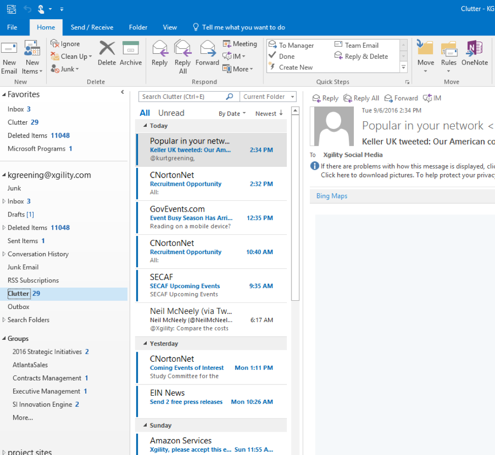 Office 365 Groups in Outlook
