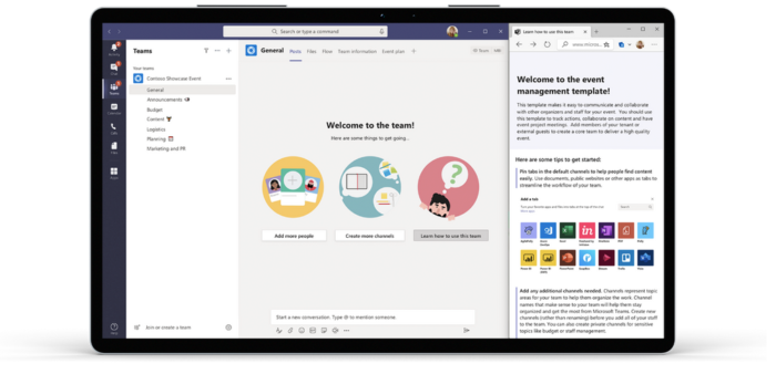 Screenshot of new Microsoft Teams Templates.