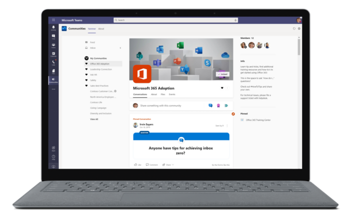 New Yammer App in Microsoft Teams.
